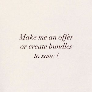 Make me an offer or create bundles to save!